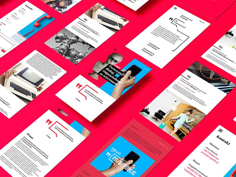 PR republic photo screens webdesign web website branding logo creative visual brand identity brand stuffstudio design