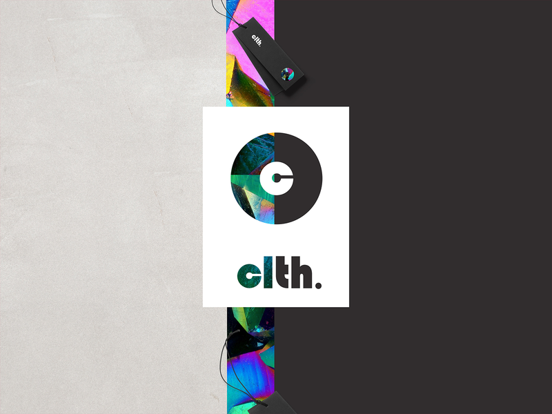 clth abstract tyoe fashion branding logo creative visual color brand identity brand stuffstudio design
