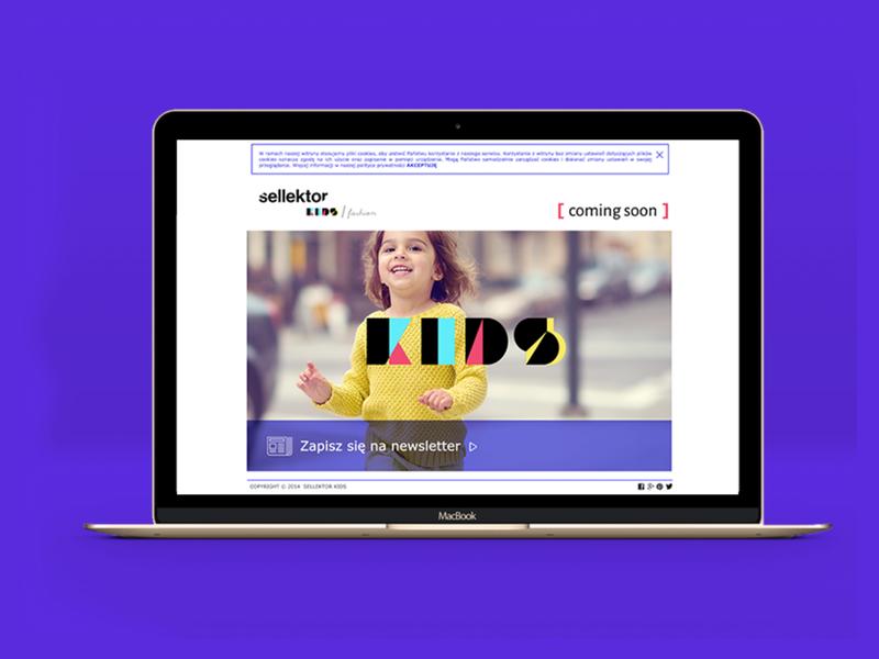sellektor kids stuff studio webdesign platform ecommerce kids website web branding creative visual color brand identity brand stuffstudio design