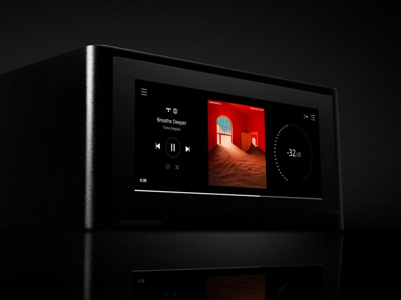 NAD M10 app navigation volume album art product spotify tidal sound germany luxury interaction ui designer sketch amplifier amp music hifi audio