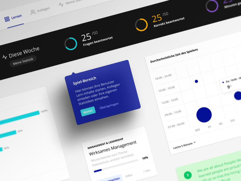 Quadio Design System product design desiign design app render 3d shadow dashboard statistics black hamburg german ux interface knowledge health germany data figma ui