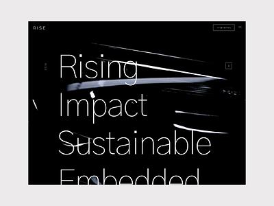 RISE Agency Navigation design branding webdesign sketch ui germany menu interface koblenz hamburg rise agency portfolio navigation