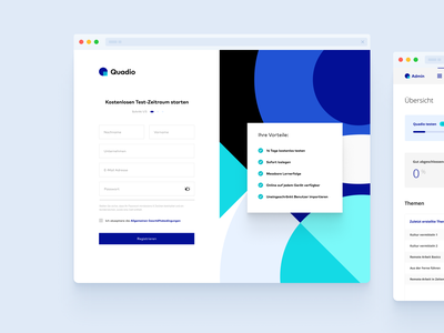 Clean Sign Up branding logo ui interface design signup screen registration blue list deutsch german sign up ui sign up page signupform signup