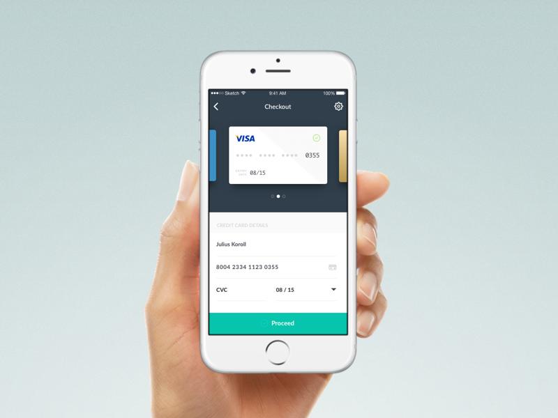 artboard 1 - Visa Credit Card App