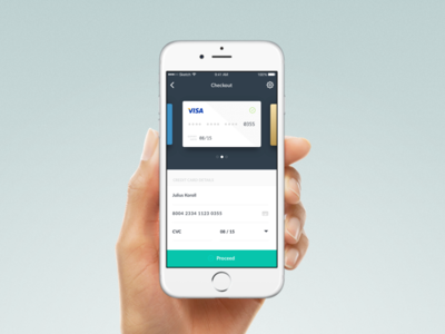 Day 2: Credit Card Checkout shop payment hand app ios checkout card credit creditcard dailyui 002