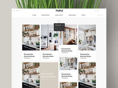 Hejhej Portal statup frontpage social furniture sort cards pinterest grid living