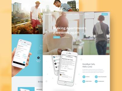 cunio webdesign responsive landingpage property real estate proptech webdesign cunio