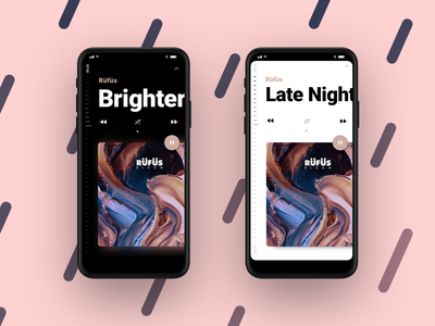 Music Player iOS 13 apple editorial typography player music now playing screen tall iphone 8 iphone