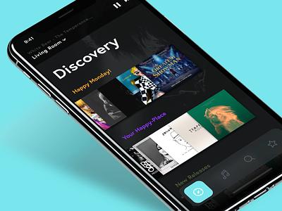 Multiroom Audio (Big!) design albums discovery ios iphone iphonex framer sketch ui deutschland germany hamburg app groups hifi sound player music audio multiroom