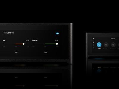 NAD M10 Amplifier UI/UX sonos devialet naim interface tidal spotify audio music amplifier