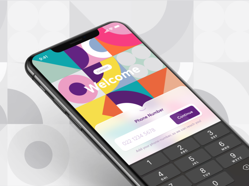 Onboarding iOS ui app number phone material design materialdesign shapes welcome ux identity julius koroll interface designer desiign hamburg germany ios onboarding illustration