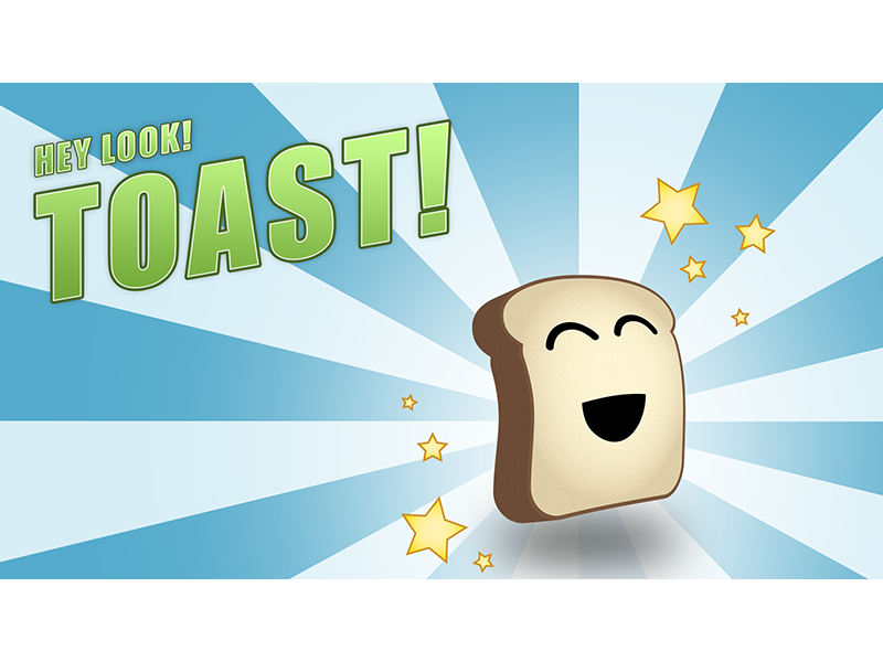 Hey Look! Toast! bread starburst toast