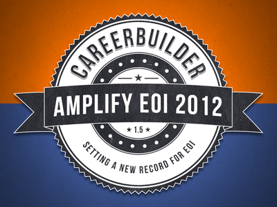 Amplify EOI 2012 careerbuilder badge logo seal ribbon circles
