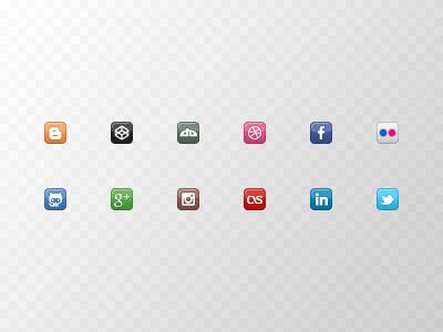 Coder's Block Mini Social Icons mini social icons