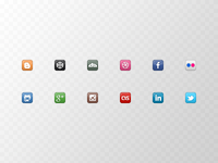 Coder's Block Mini Social Icons