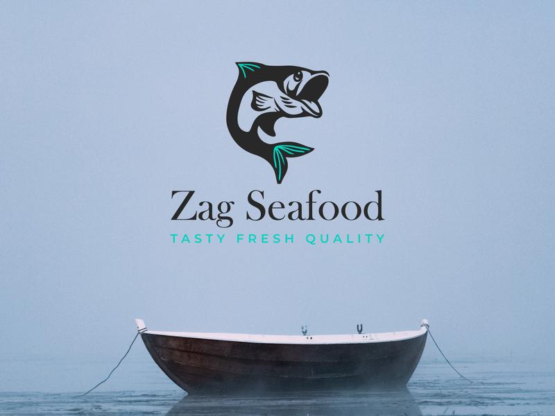Seafish Logo Design fish fishery fashion design icon r mark r logo r letter design logo branding brand identity brand design