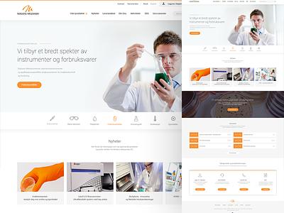 Nerliens Meszansky - landing page design site laboratory medical homepage front page web design webshop e-commerce web landing page