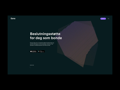 Eana landing page sketchapp norway technology motion ux ui animation website web design design landing page web ae after effects
