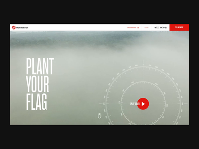 Plant your flag - Landing page ux campaign ship norway hurtigruten animation ui design website landing page web web design ae after effects