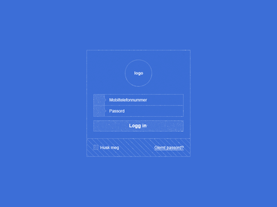 Sign in - Blueprint/Wireframe