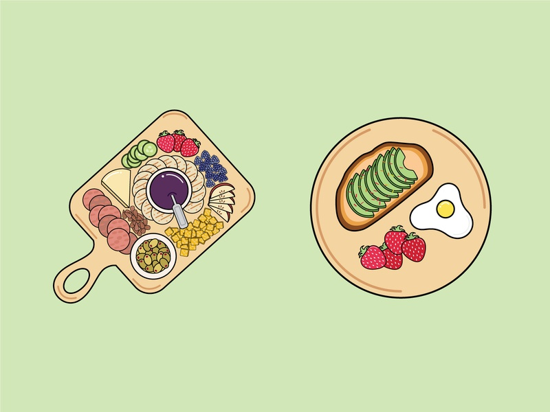 Snacks vector icons drawing cute illustration design