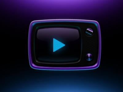 Pur Pur Retro Tv Icon belarus icon tv retro glass screen play
