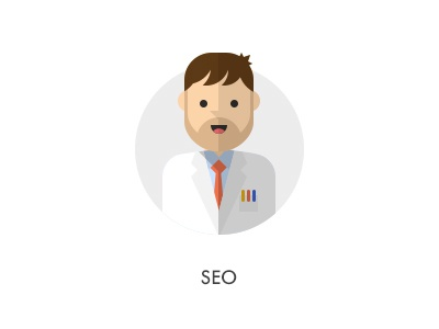How should they look like: Seo flat seo scientist how they looks character jazzpixels icon circule