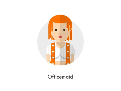 How should they look like: Officemaid flat maid officemaid lilu dalas the 5th element multipass how they looks character jazzpixels icon circule
