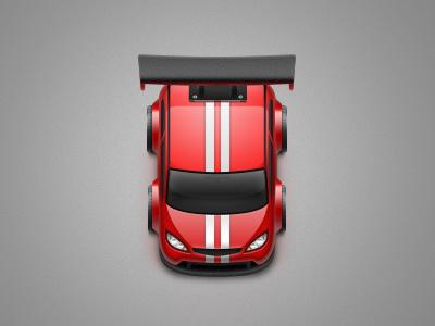 Remote control car car red stripes racing