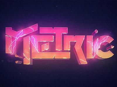 Metric logotype electric type logo metric