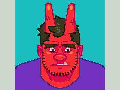 Sad Horny Boi vector devil sad demon