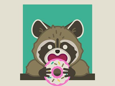 Donut Boi vector raccoon donut