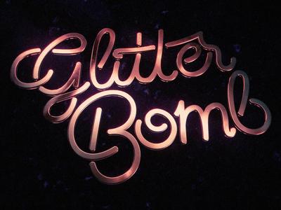 Glitterbomb 3d lettering customtype custom bomb glitter