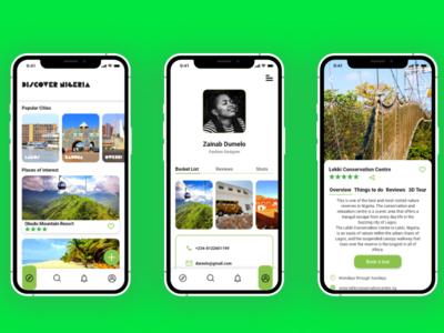 Discover Nigeria adobe xd travel app ux ui