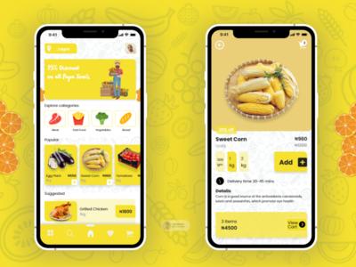 Grocery App adobe xd ux ui