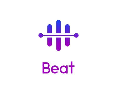 beat logo logochallenge dailylogochallenge music streaming music streaming app branding design beat logo beat