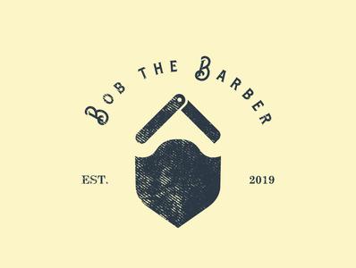 Bob the Barber logo hairdresser hairdressing barber shop barber logo branding hair hair salon haircut distressed texture denim dailylogochallenge logochallenge bob the barber barbershop logo barbershop barber