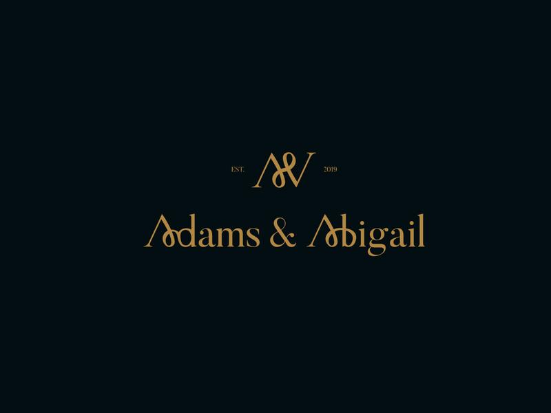 Adams & Abigail fashion wordmark apparel logo apparel clothing logo clothing dailylogochallenge wordmark fashion logo clothing line clothing brand fashion wordmark fashion brand fashion