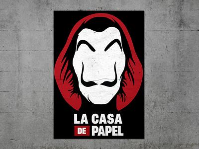LA CASA DE PAPEL - POSTER DESIGN illustrations typo tv show tvseries series tvshow movie posters graphic design poster designer poster poster design illustration typography