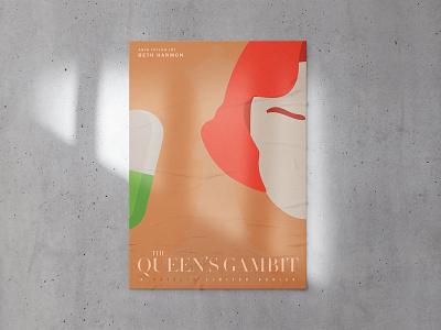 Queen's Gambit - Poster design chess gambit queens illustration poster design design typography
