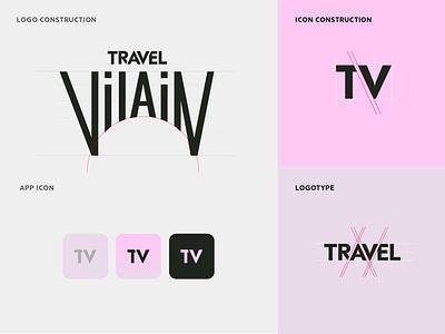 Branding for Travel Vilain logomark lettering typogaphy branding logo design logotype logo