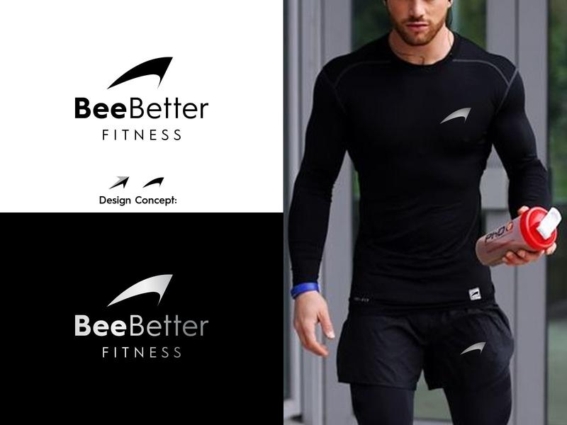 Bee Better Fitness LLC logo sporty apparel fitness fitness logo design icon logo creative branding