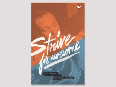 Strive for Awesome poster