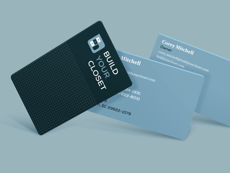 Build Your Closet Business Cards By Greg Warner Dribbble Dribbble