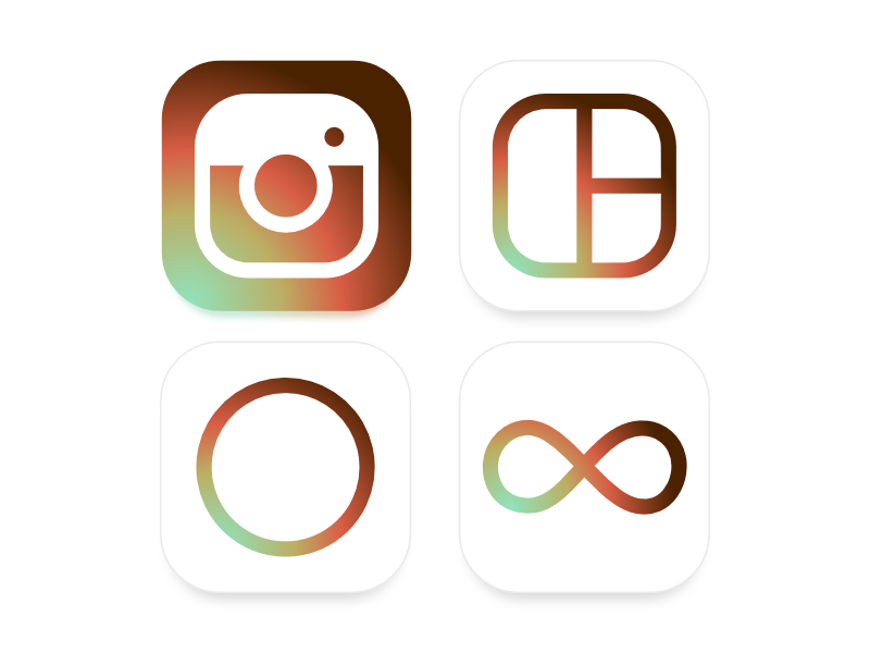 Instagram Icon Set Alternate because vintage picky gradients annoying rebrand