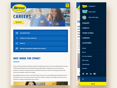 Spinx website 2016 tablet and mobile
