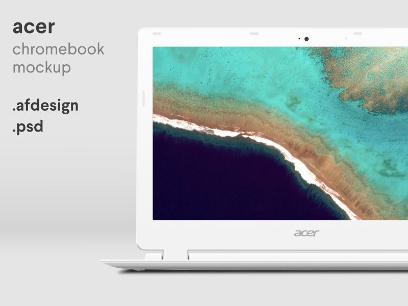 Acer Chromebook Mockup psd photoshop affinity designer chromebook laptop device mockup mockup