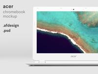 Acer Chromebook Mockup