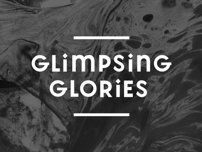 Glimpsing Glories wordmark affinity designer minimal sans-serif lettering wordmark logo