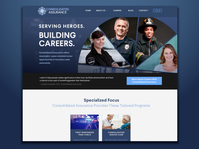 Consolidated Assurance homepage